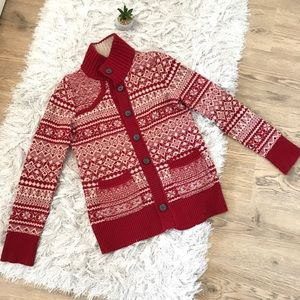 Eddie Bauer Red Vintage Ugly Christmas Sweater S
